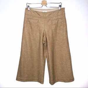 Anthro Elevenses cropped wide leg pant 8 petite